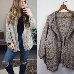 VINTAGE// Oversized Chunky Knit Cardigan